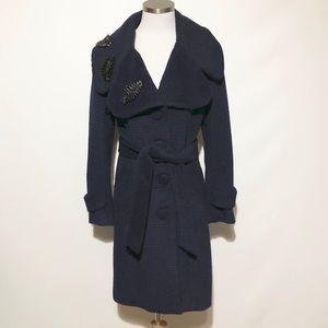 Yoana Baraschi Navy Textured Coat